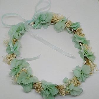 Corona hortensias mint y paniculata