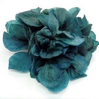 Broche_Clip Flor Hortensia Azul