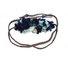 Cinturón de Antelina trenzada Hortensia Azul
