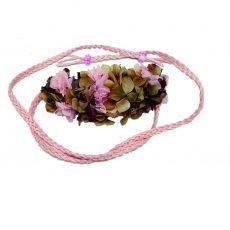Cinturón de Antelina trenzada Hortensia Rosa,