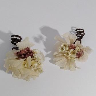 clips pelo novia flores preservadas