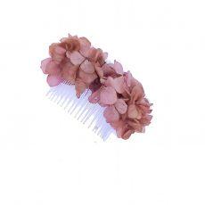 peineta flores rosas