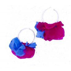 Hydrangea Hoop Earrings