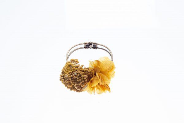 pulsera hortensia amarilla