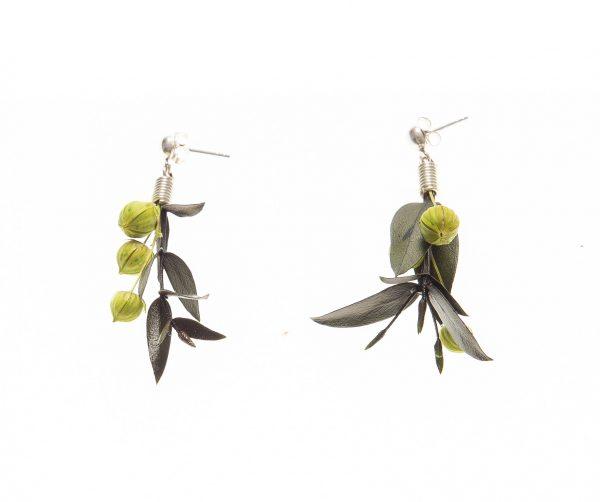 Pendientes flor de Parvifolia y Lino