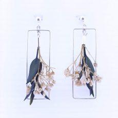 pendientes flor eucalipto