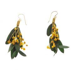 pendientes flor Ramillete, Parvifolia y Broom amarillo