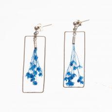 pendientes Rectangulares Ramillete Broom Azul