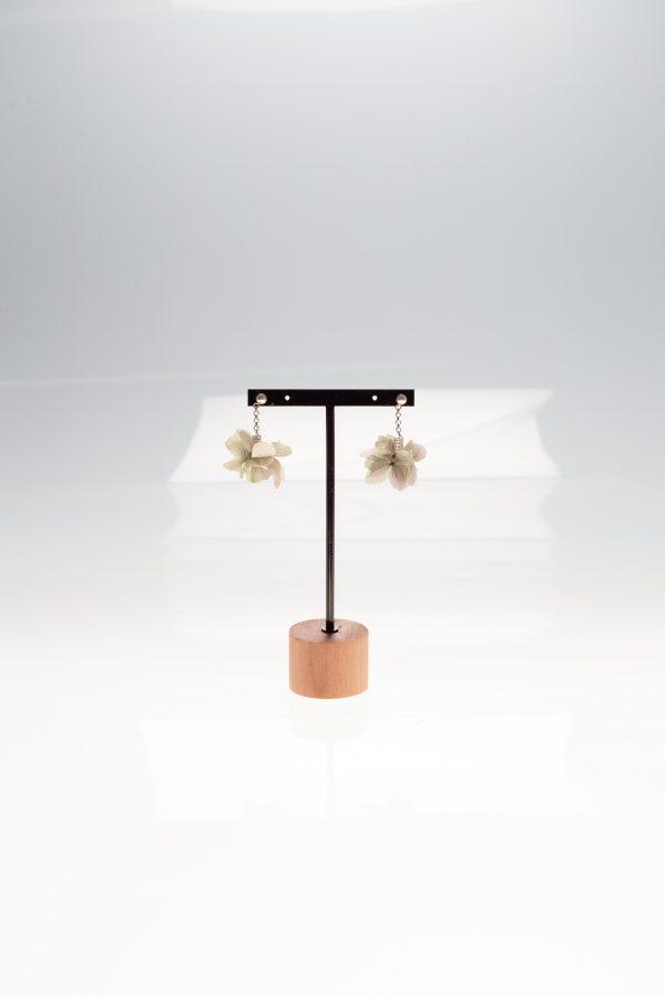 pendientes flores hechos a mano