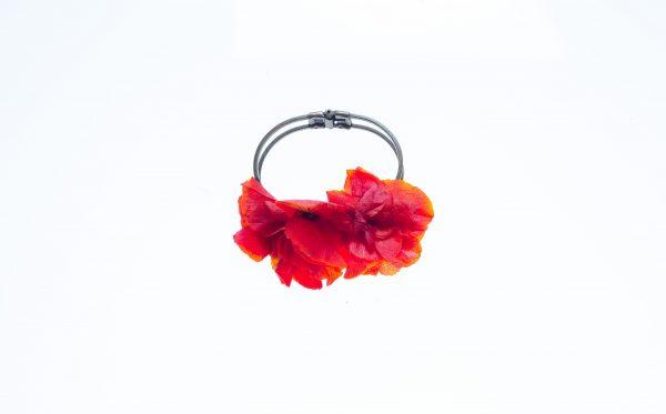 pulsera hortensia roja
